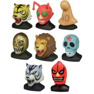 TIGER MASK Complete SET 8 FIGURES Mini BUSTS Masks Collection TOMY Gashapon JAPAN