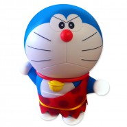 DORAEMON Wild PRIMITIVE Rare Plush 30cm TAITO Movie BIRTH OF JAPAN 2016