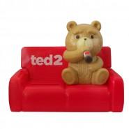 Figure TED 2 on RED SOFA 10cm HEAD KNOCKER Bobble SOLAR POWER