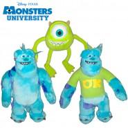 MONSTERS UNIVERSITY SET 3 Peluche MIKE e SULLY 20cm Originali Disney Pixar