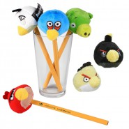 SET 6 Peluche ANGRY BIRDS 5cm Pencil Toppers Originali ROVIO