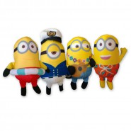 MINION PARADISE App SET 4 Plushes MINIONS 20cm Original STUART PHIL KEVIN Despicable Me