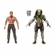 PREDATOR Box 2 Figure Action DUTCH vs JUNGLE HUNTER Final Battle Neca
