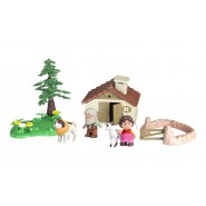 HEIDI Playset MINI MONDO Casetta World e 4 FIGURE Originali FAMOSA