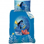 BED SET Duvet Cover FINDING DORY and Nemo 100% COTTON Disney
