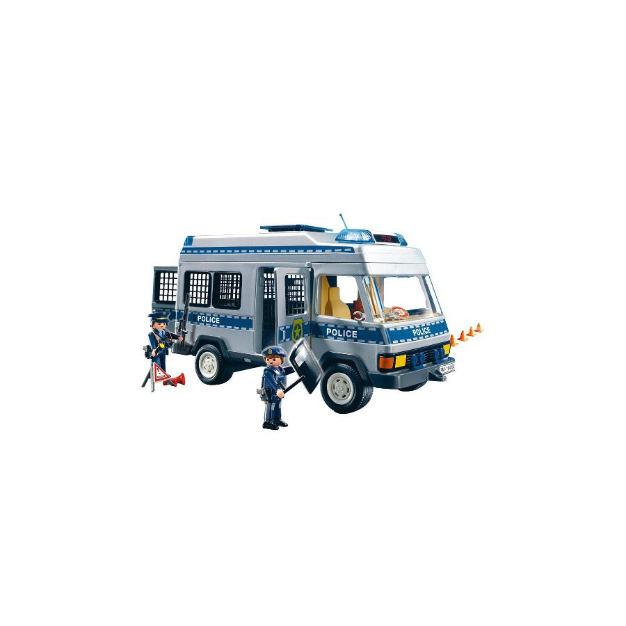 Set playset camion polizia furgone playmobil 4023 police truck camionetta apecollection - Playmobil camion police ...