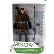 ARROW Figura Action MALCOLM MERLYN Dark Archer UNMASKED 18cm Originale DC COLLECTIBLES
