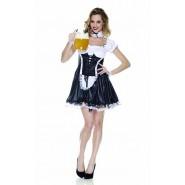 COSTUME Halloween SEXY CAMERIERA Adulto Donna RUBIE'S Rubies Carnevale S M
