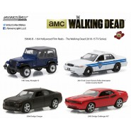 COCCECTOR SET 4 Model Cars THE WALKING DEAD 1:64 Limited GREENLIGHT COLLECTIBLES