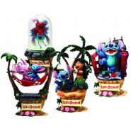 SET 4 Diorami Figure LILO & STITCH Stupendi BOX Originali DISNEY Snow White FORMATION ARTS Square Enix