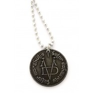 GAME OF THRONES Ciondolo VALAR MORGHULIS con Collana TRONO DI SPADE Moneta Faceless Man