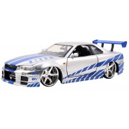 Model Car BRIAN's NISSAN SKYLINE GT-R R34 1/24 Die Cast FAST FURIOUS 7 Jada