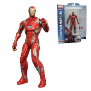 MARVEL SELECT Figura Diorama IRON MAN MARK 46 Civil War 20cm ORIGINALE Diamond