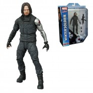 MARVEL SELECT Civil War WINTER SOLDIER  Action Figure with Diorama 20cm ORIGINAL Diamond