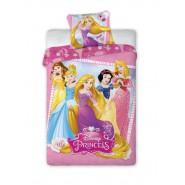 Set Letto PRINCIPESSE DISNEY Rapunzel etc. 140x200cm Copripiumino Federa 100% Cotone BED SET