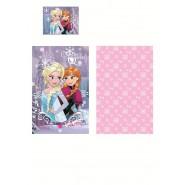 Set Letto BABY Disney FROZEN Snow Queen COPRIPIUMINO 90x140 100% Cotone ANNA ELSA