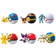 Figure POKEMON Character and POKEBALL Belt OFFICIAL Tomy YOU CHOOSE