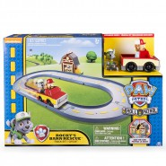 PAW PATROL Playset PISTA RACERS Rocky's Barn Rescue FATTORIA Roll Spin Master