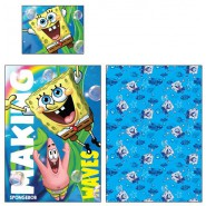 Set Letto SPONGEBOB SQUAREPANTS Making Waves COPRIPIUMINO e FEDERA 100% Cotone 140x200