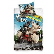 Set Letto SHAUN THE SHEEP Vita Da Pecora COPRIPIUMINO e FEDERA 100% Cotone 140x200