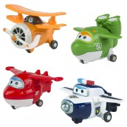 Super Wings SET Box 4 Figure TRASFORMABILI Jett Mira Paul Albert ORIGINALI Aereo Robot