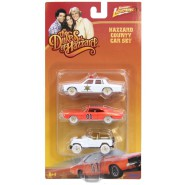 HAZZARD Blister SET 3 Modellini Scala 1/64 GENERALE LEE Auto ROSCO Jeep DAISY Originale TOMY