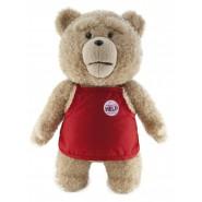 TED ORSO VOLGARE Peluche PARLANTE Gigante 60cm GREMBIULE Rosso SUPERMARKET Originale