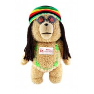 "TED BAD BEAR Movie TALKING Big 40cm RASTA JAMAICAN ""RED"" UNCENSORED Moving Mouth"