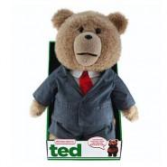 """TED ORSO VOLGARE Peluche PARLANTE Grande 40cm ELEGANTE SUIT """"ROSSO"""" NON CENSURATO Originale MUOVE BOCCA"""