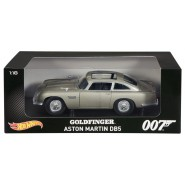 Agente 007 GOLDFINGER Modello Auto ASTON MARTIN DB5 Scala 1:18 Hot Wheels HERITAGE CMC95