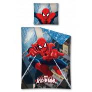 COPRIPIUMINO Set Letto 160x200cm UOMO RAGNO Spider Man LANCIA RAGNATELE 100% COTONE MARVEL BED SET