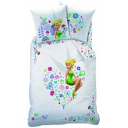 TINKERBELL Bed Set Disney DUVET COVER SET 100% Cotton 140x200cm PILLOW COVER 60x80cm