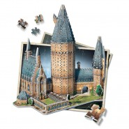 HARRY POTTER Puzzle 3D Diorama GREAT HALL Sala Grande del CASTELLO DI HOGWARTS 850 Pezzi WREBBIT