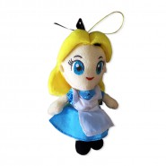 ALICE NEL PAESE DELLE MERAVIGLIE Peluche ALICE 18cm Originale SEGA Ufficiale DISNEY Wonderland