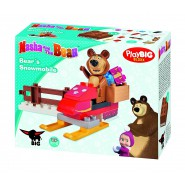 MASHA Playset Kit BEAR 's SNOWMOBILE Misha SIMBA PlayBIG