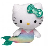 HELLO KITTY Peluche SIRENETTA Sirena 15cm Originale TY Sanrio PLUSH Beanie