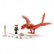 DRAGONS Set 2 Figure ZANNACURVA e Snotlout PARLANTE Talking ARMORED DRAGON TRAINER Spin Master