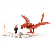 DRAGONS Set 2 Figure ZANNACURVA e Snotlout PARLANTE Talking ARMORED DRAGON TRAINER Spin Master