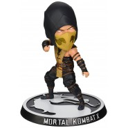 MORTAL KOMBAT X Figure SCORPION Bobble Head 15cm Official MEZCO Toys KNOCKER