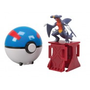 POKEMON Playset Figura GARCHOMP con MEGA BALL Poke Ball CATCH 'n' RETURN Lancia Prendi TOMY