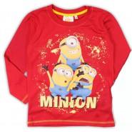 MINIONS Minion T-SHIRT Maglietta ROSSA Manica Lunga ORIGINALE Cattivissimo Me