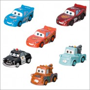 SET 6 Car Models CARS Racing Series DISNEY Mater Lightning ORIGINAL Yujin