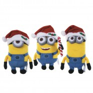 MINIONS Set 3 Plush MINION Christmas XMAS 22cm Despicable Me