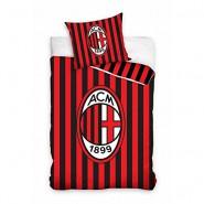Set Letto MILAN ACM 1899 STEMMA ROSSO NERO Ufficiale Originale Calcio