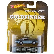 007 GOLDFINGER Modellino Auto ASTON MARTIN DB5 Scala 1/64 Hot Wheels MATTEL