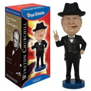 ROYAL BOBBLES Figura Statuetta WINSTON CHURCHILL Presidente UK 20cm BOBBLE HEAD Originale