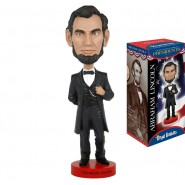 ROYAL BOBBLES Figura Statuetta ABRAHAM LINCOLN Presidente USA 20cm BOBBLE HEAD Originale