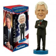 ROYAL BOBBLES Figura Statuetta BILL CLINTON Presidente USA 20cm BOBBLE HEAD Originale