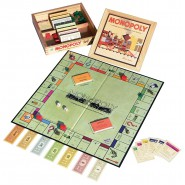 MONOPOLY Special Edition NOSTALGIA with WOODEN BOX Parker Brothers Vintage HASBRO