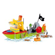 Playset PINGUINI di Madagascar FISHING FOR TREASURE Costruzioni COBI 26300 Mattoncini 300 pezzi